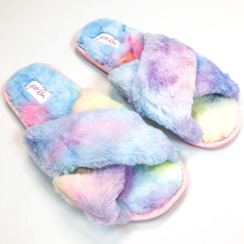 Tie Dye Criss Cross Slippers