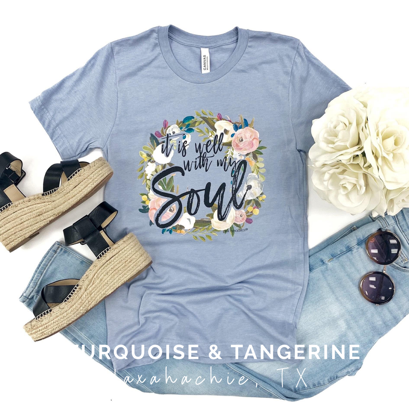 It is Well With My Soul Blue T-Shirt Preorder