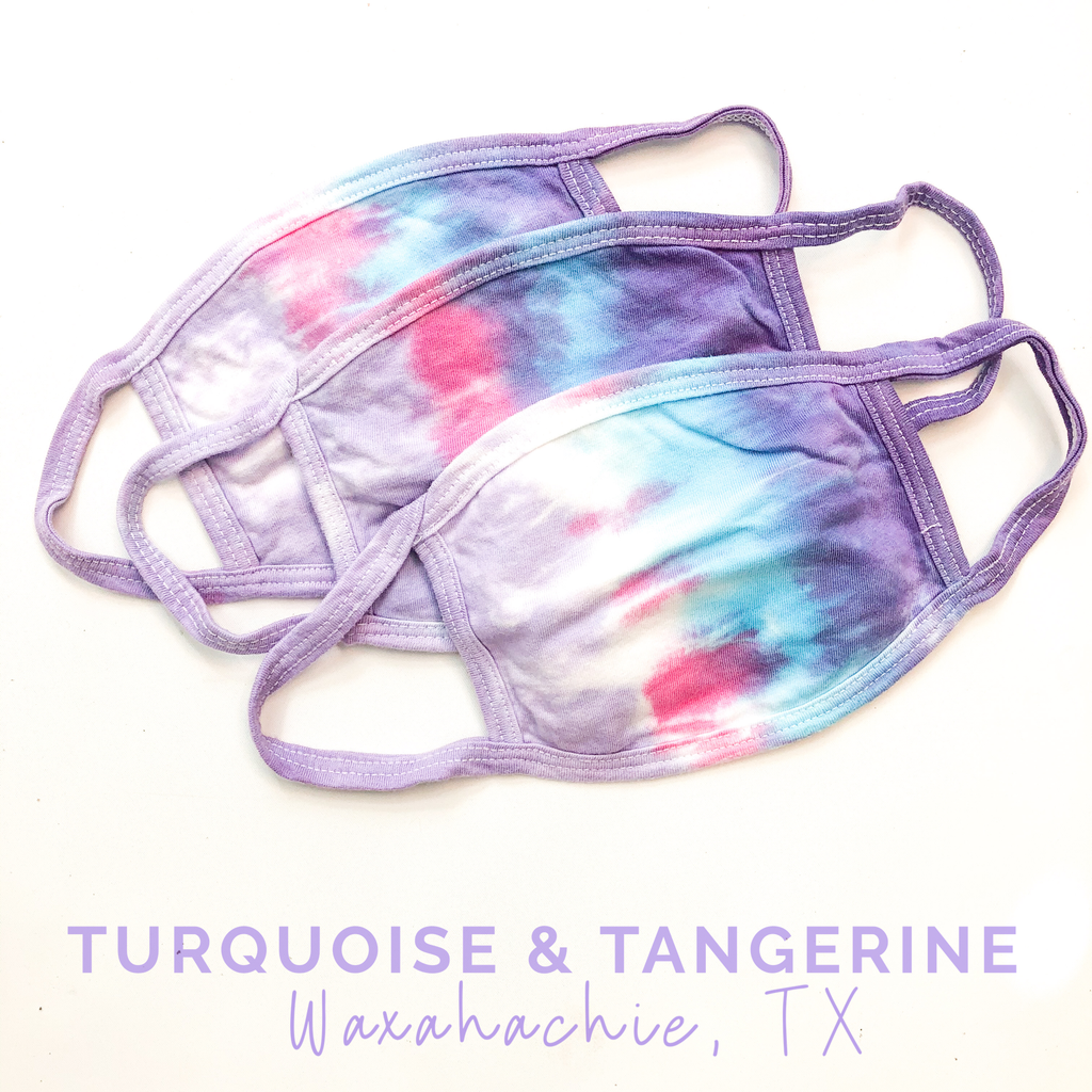 Pastel Tie Dye Adult Sized Mask