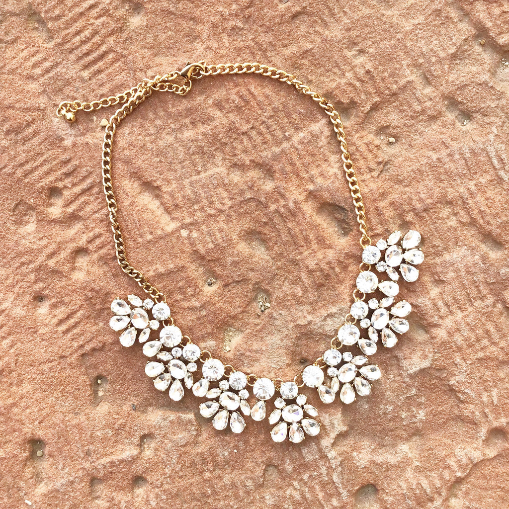 Floral Bib Statement Necklace