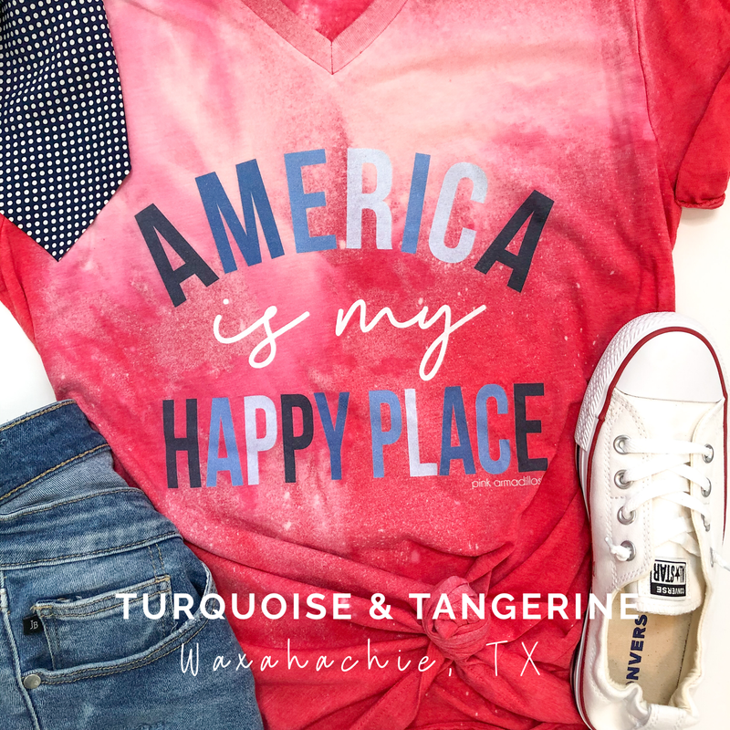 Bleached America is My Happy Place T-Shirt