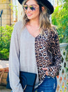 Leopard Print Divided Top