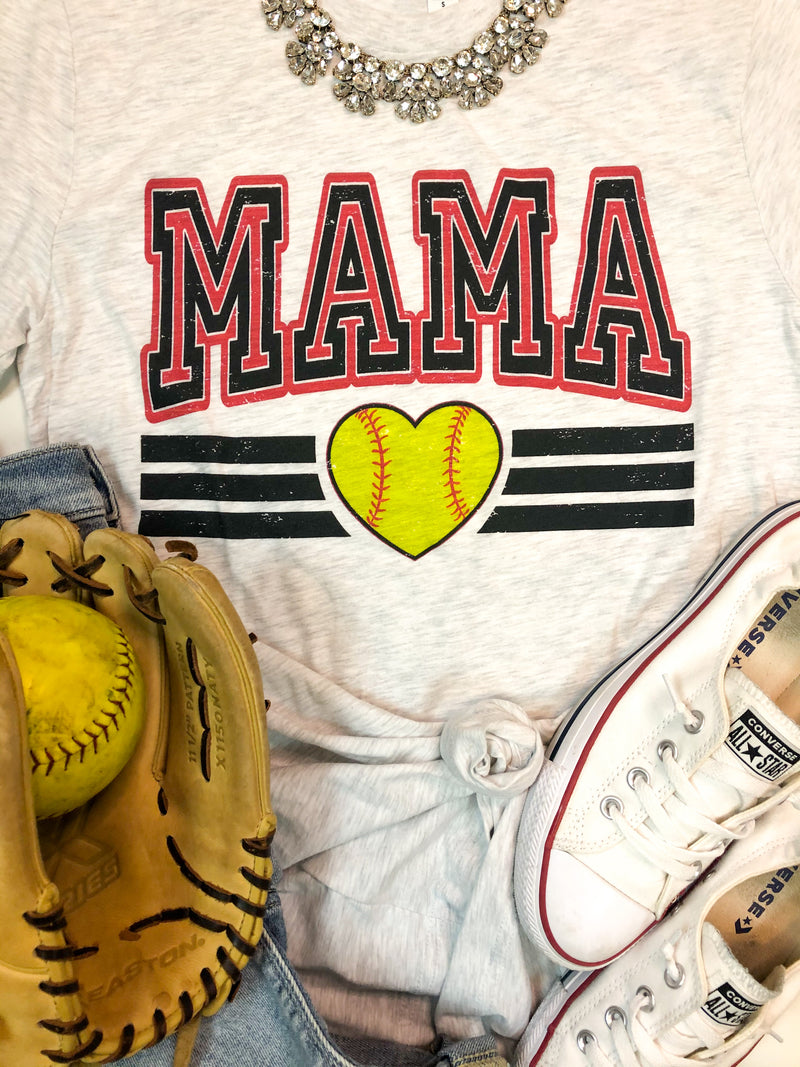 Retro Softball Mama T-Shirt PREORDER