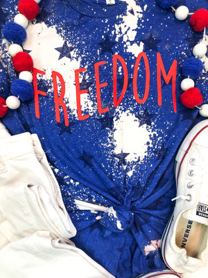Bleached Freedom Star T-Shirt