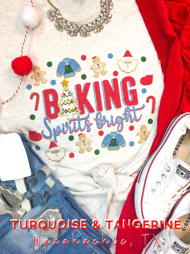 Baking Spirits Bright Crew Neck T-Shirt PREORDER