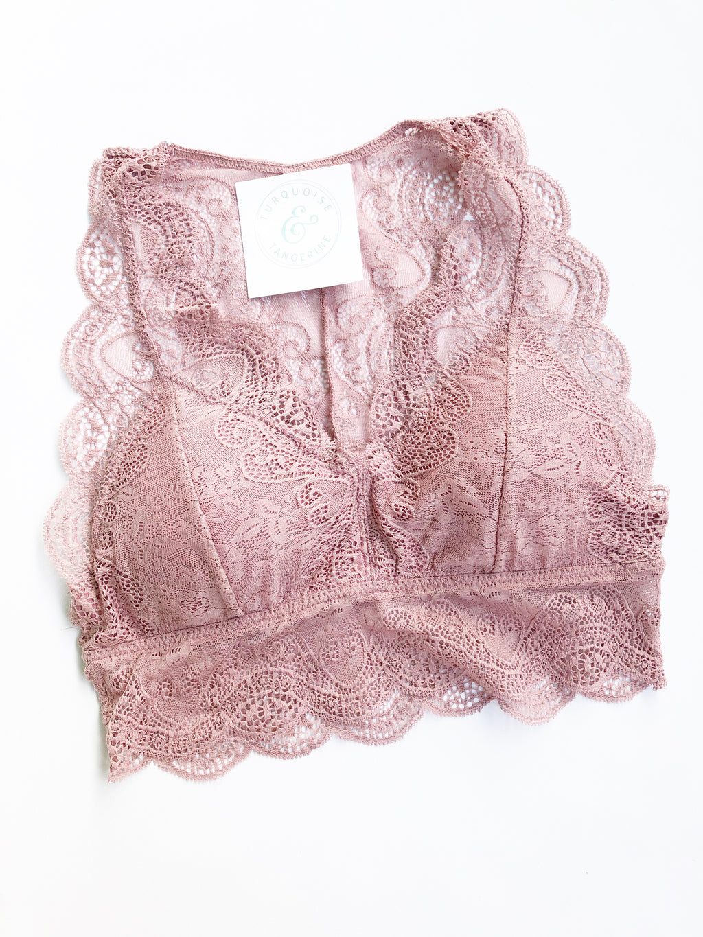 Lace Bralette in Rose