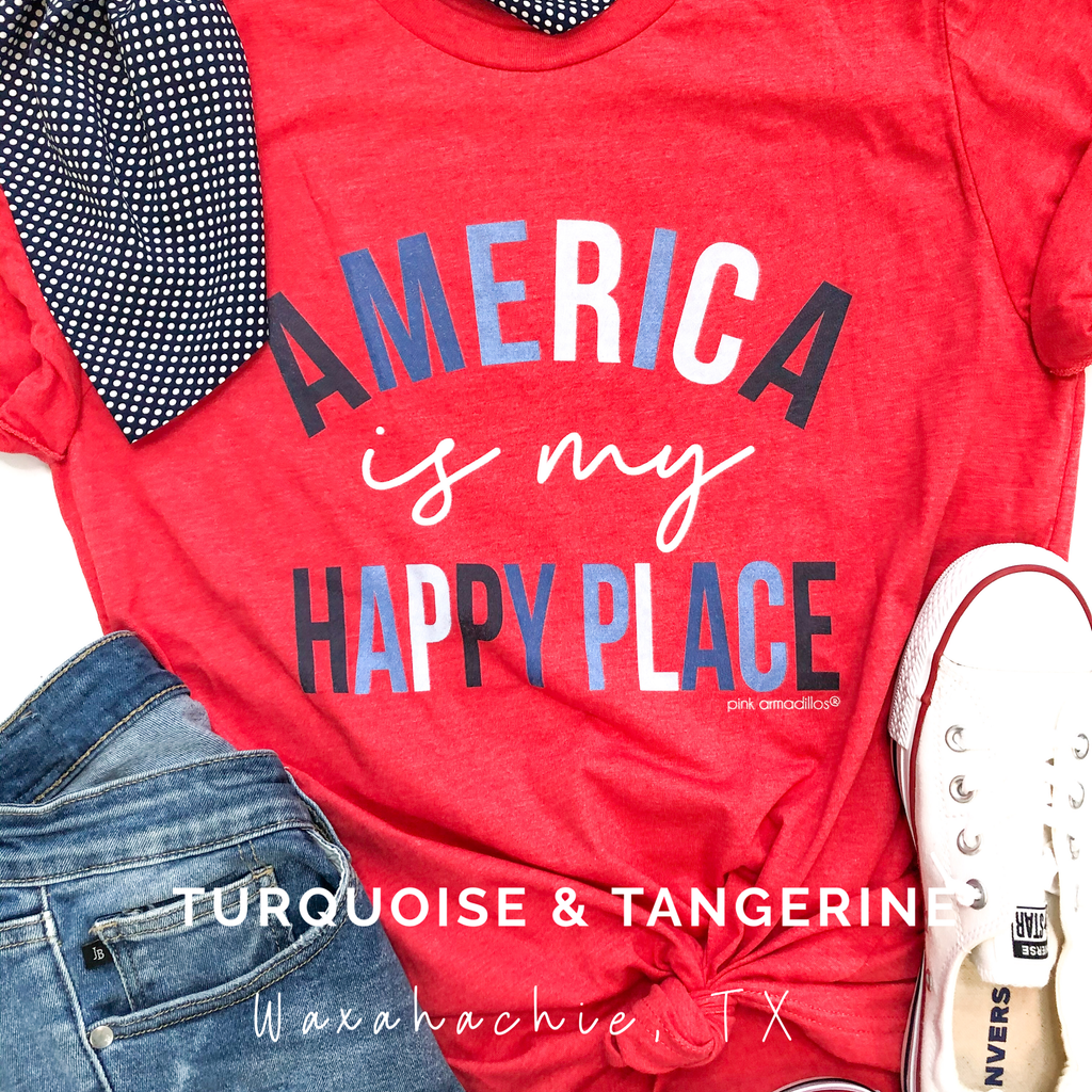 America is My Happy Place T-Shirt Preorder
