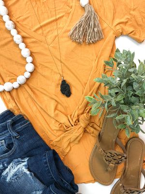 Everyday V-Neck T-Shirt in Mustard
