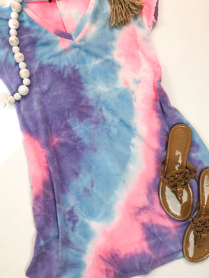 Bubble Gum Tie Dye Dress