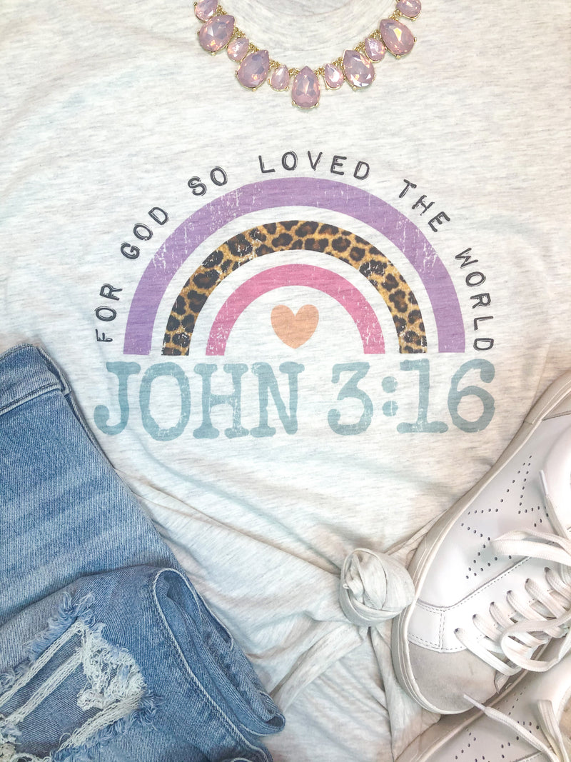 Youth John 3:16 Rainbow T-Shirt PREORDER