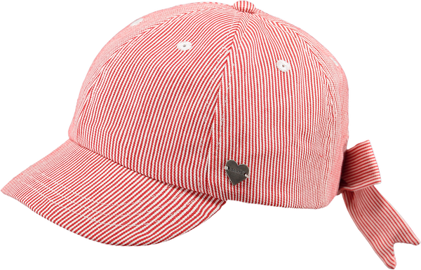 BARTS FLAMINGO CAP STRIPE RED
