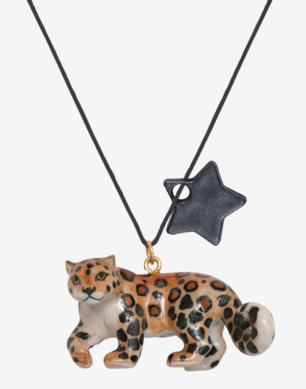 A Mini Penny - Leopard Necklace - beetlesandbugs.com