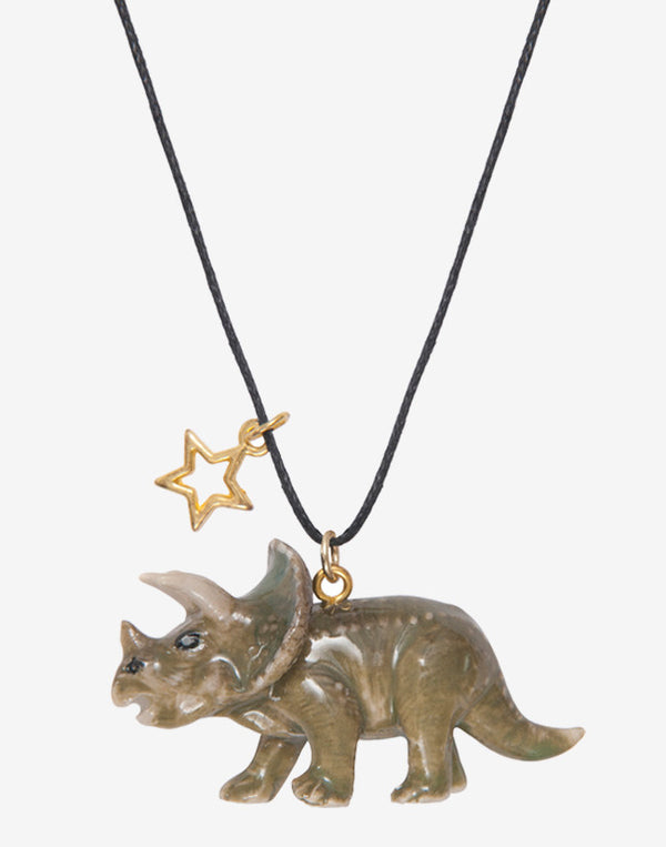 A Mini Penny - Triceratops necklace - beetlesandbugs.com
