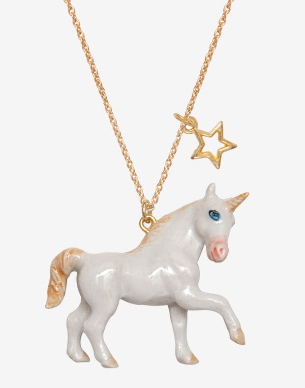 A Mini Penny - Unicorn Necklace - beetlesandbugs.com