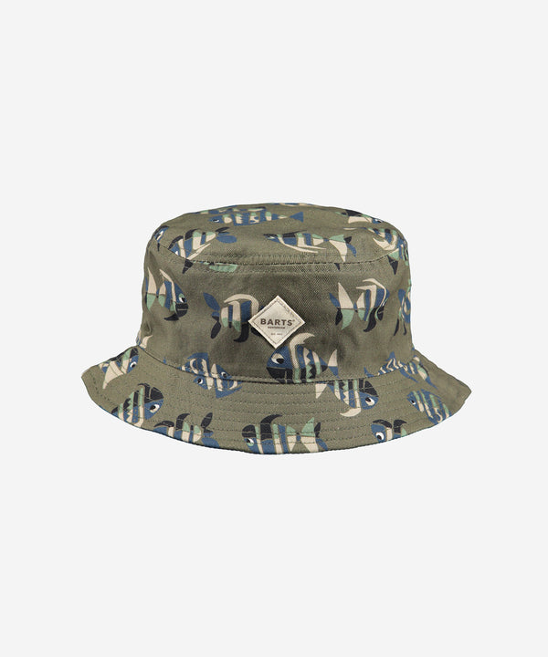 BARTS Antigua Reversible Hat AOP Fish Army