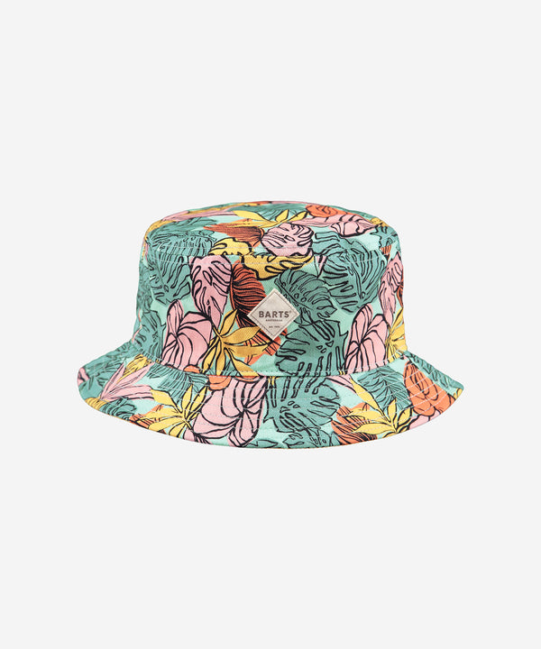 BARTS Antigua Reversible Hat AOP Leaves Aqua