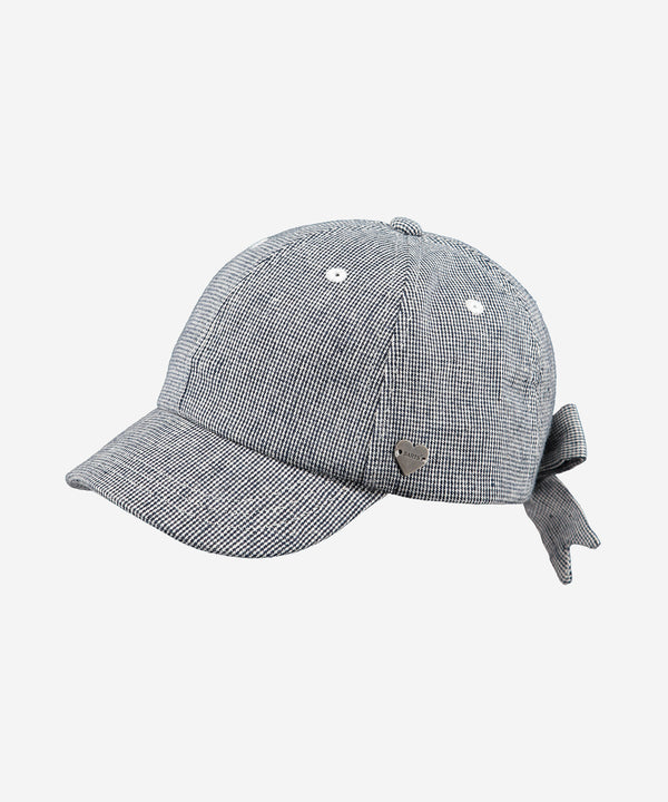 BARTS Flamingo Cap w. Bow Blue Checks