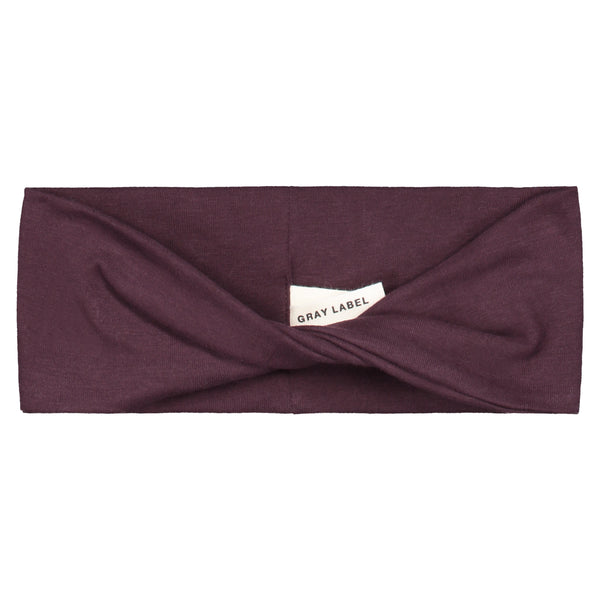 GRAY LABEL MINI TWISTED HEADBAND 1-4Y PLUM