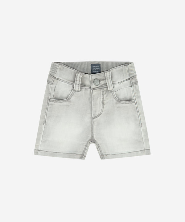 BABYFACE Baby Boys Jogg Denim Shorts Light Grey