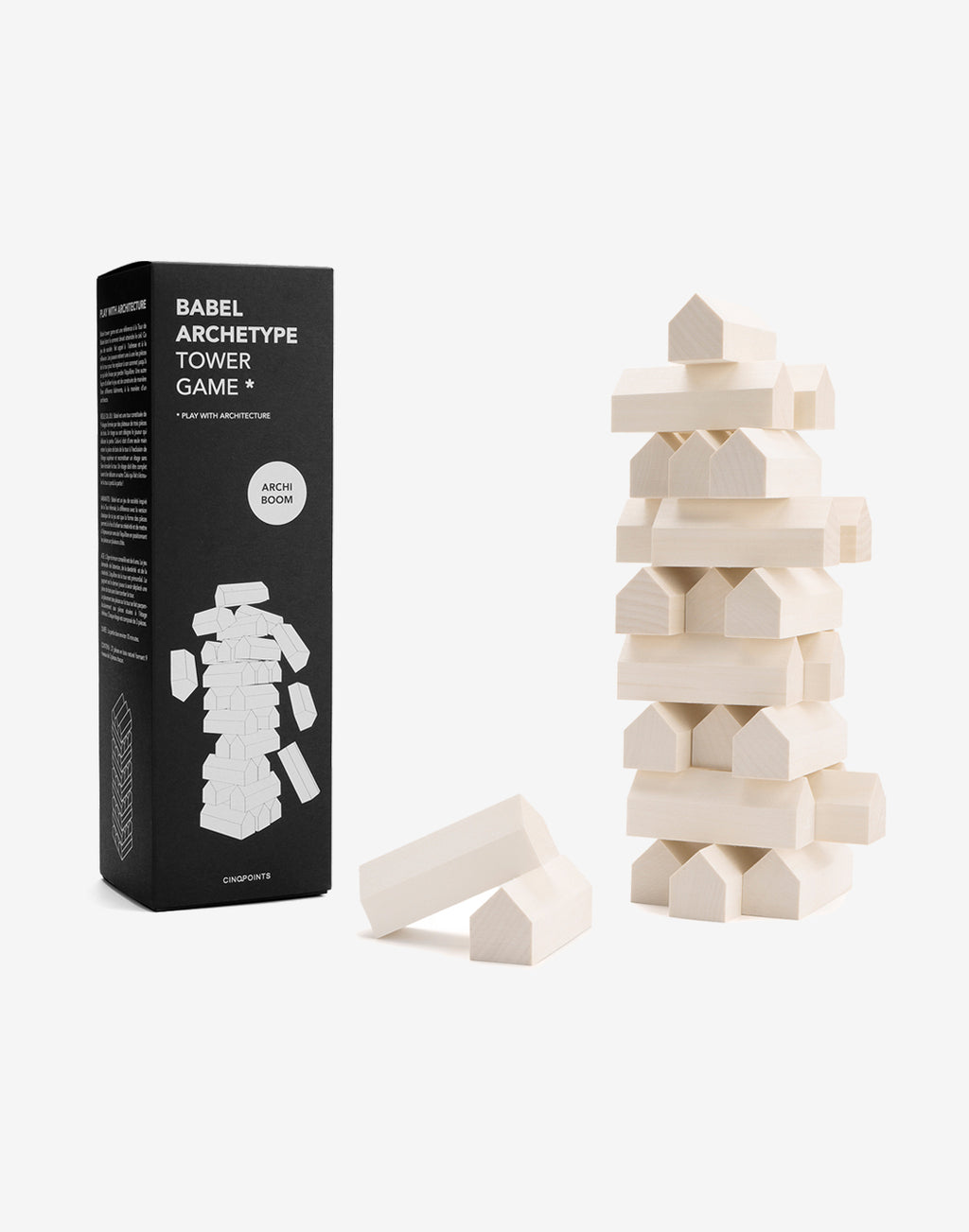 CINQPOINTS - Babel Archetype Jenga Tower