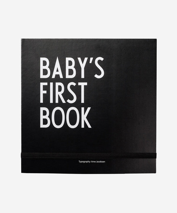 Design Letters Baby's First Book Black