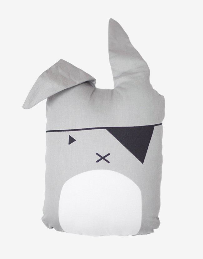 Fabelab - Animal Cushion - Grey Pirate Bunny 2 - beetlesandbugs.com