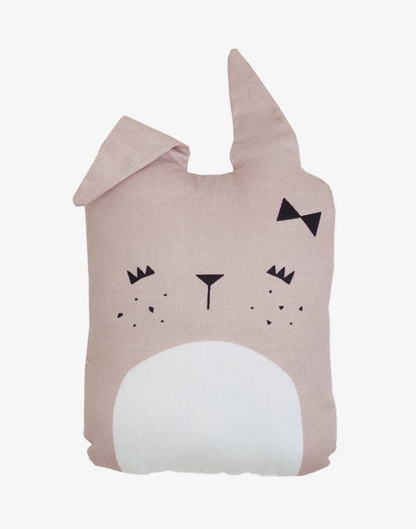 Fabelab - Animal Cushion - Pink Cute Bunny 3 - beetlesandbugs.com