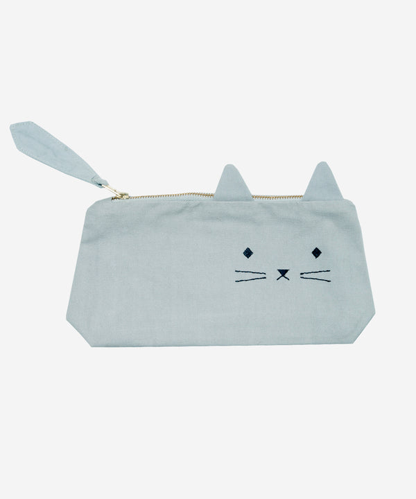 Fabelab - Pencil Case - Cat Foggy Blue