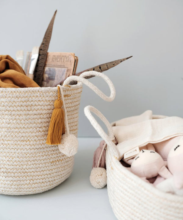 Fabelab - Rope Basket Small - Ochre