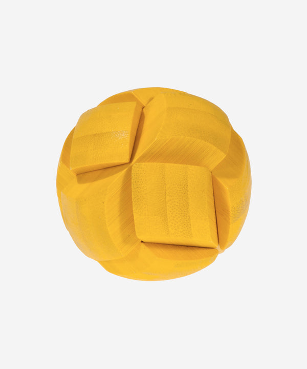 FRIDOLIN - Bamboo Brainteaser Ball Yellow