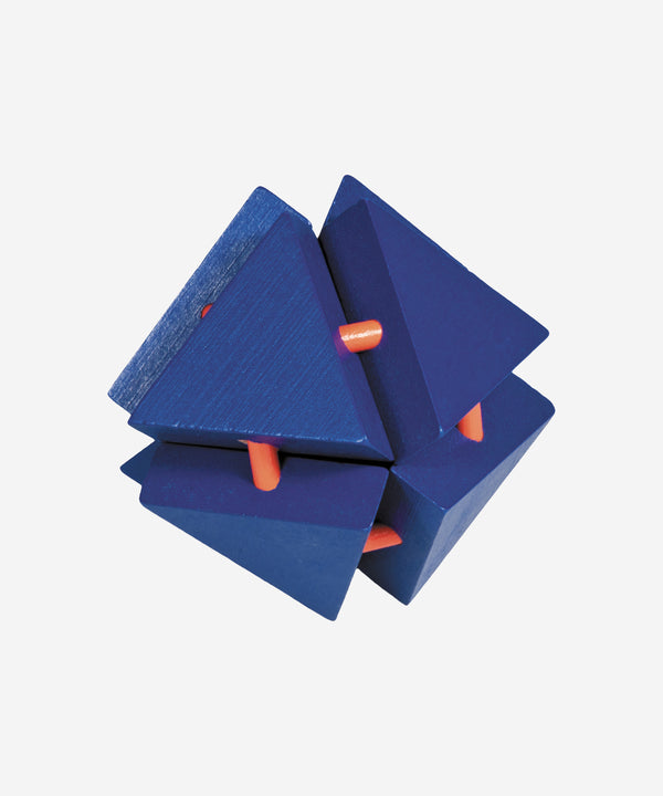 FRIDOLIN - Bamboo Brainteaser Magic Triangle Box Blue