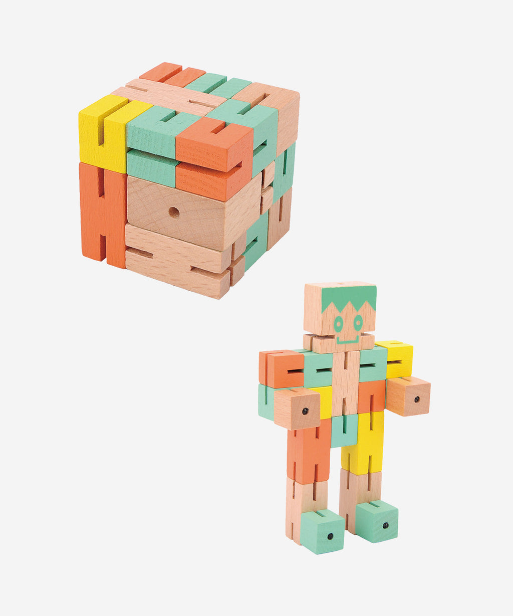 FRIDOLIN - Puzzle Boy Orange/Green