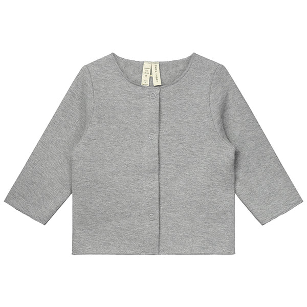 GRAY LABEL MINIATURE BABY CARDIGAN GREY MELEE