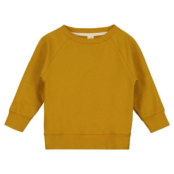 GRAY LABEL CREWNECK SWEATER MUSTARD - 5-6Y