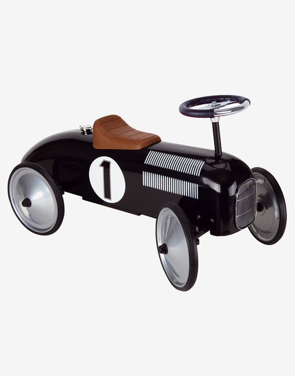 GOKI - Ride On - Racing Car - Black - beetlesandbugs.com