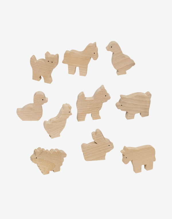 GoKi - Wooden Farm Animals Set