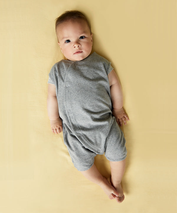 GRAY LABEL Baby Grow w. Snaps Grey Melee