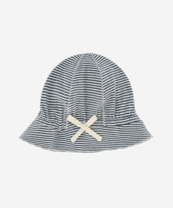 GRAY LABEL Baby Sun Hat Blue Grey Stripe