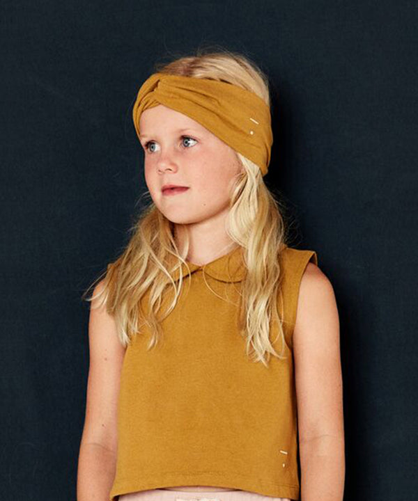 GRAY LABEL Organic Twist Headband Mustard