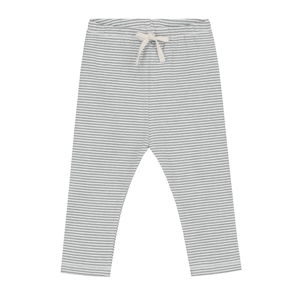 GRAY LABEL MINIATURE BABY LEGGINGS STRIPE GREY MELEE/CREAM