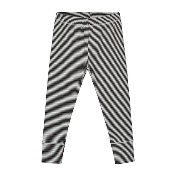 GRAY LABEL LEGGINGS NEARLY STRIPE BLACK/CREAM - 18-24M