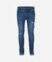 INDIAN BLUE JEANS Boys - Andy Flex Skinny Fit Denim Jeans Destructed Look Medium Blue