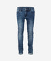 INDIAN BLUE JEANS Boys Andy Flex Skinny Fit Denim Jeans Dark Blue Washed