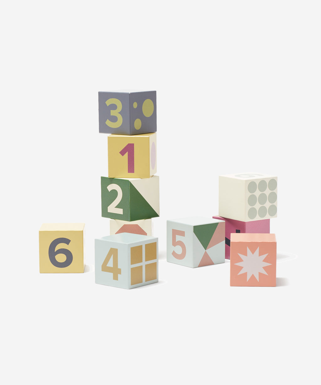 Kid's Concept - 10 Wooden Blocks Edvin