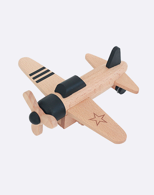 KIKO+ - Hikoki - Wind Up Propeller Plane - Black
