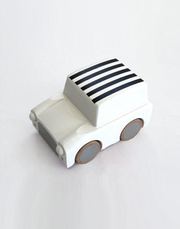 KIKO+ - Kuruma - Classic Wind Up Car - White Stripes