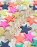Kiko+   This lovely set of 100 wooden stars can be played anyway your child's imagination leads. Stack them, line them, play domino, sort, count, make your own constellation, pretend catching stars....