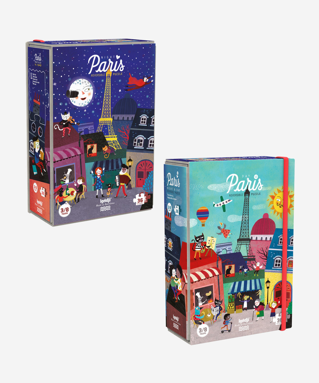 LONDJI - Night & Day in Paris Reversible Puzzle