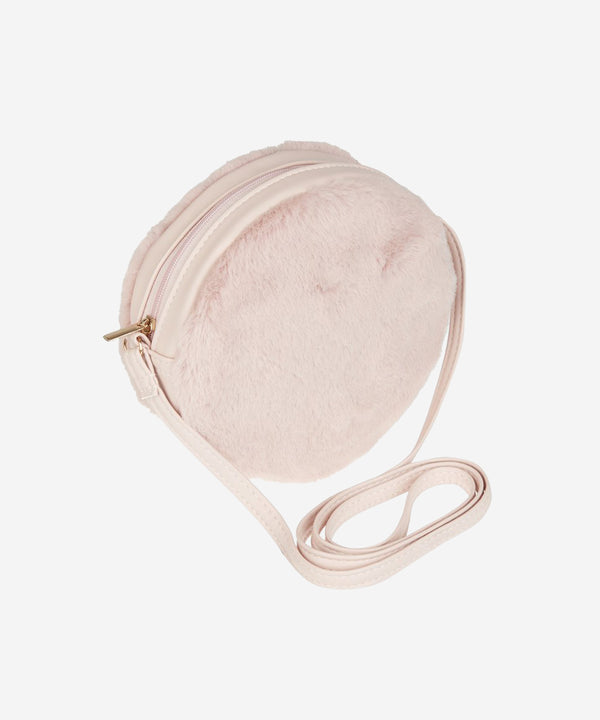 MIMI & LULA - Furry Round Bag Blush Pink