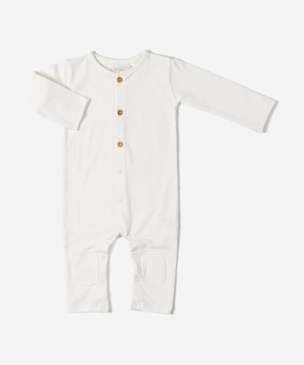 NIXNUT Butt Onesie Off White